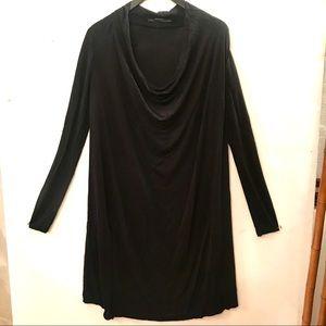 All Saints Black Cupro Dress